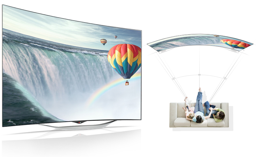 OLED TV Curved Screen