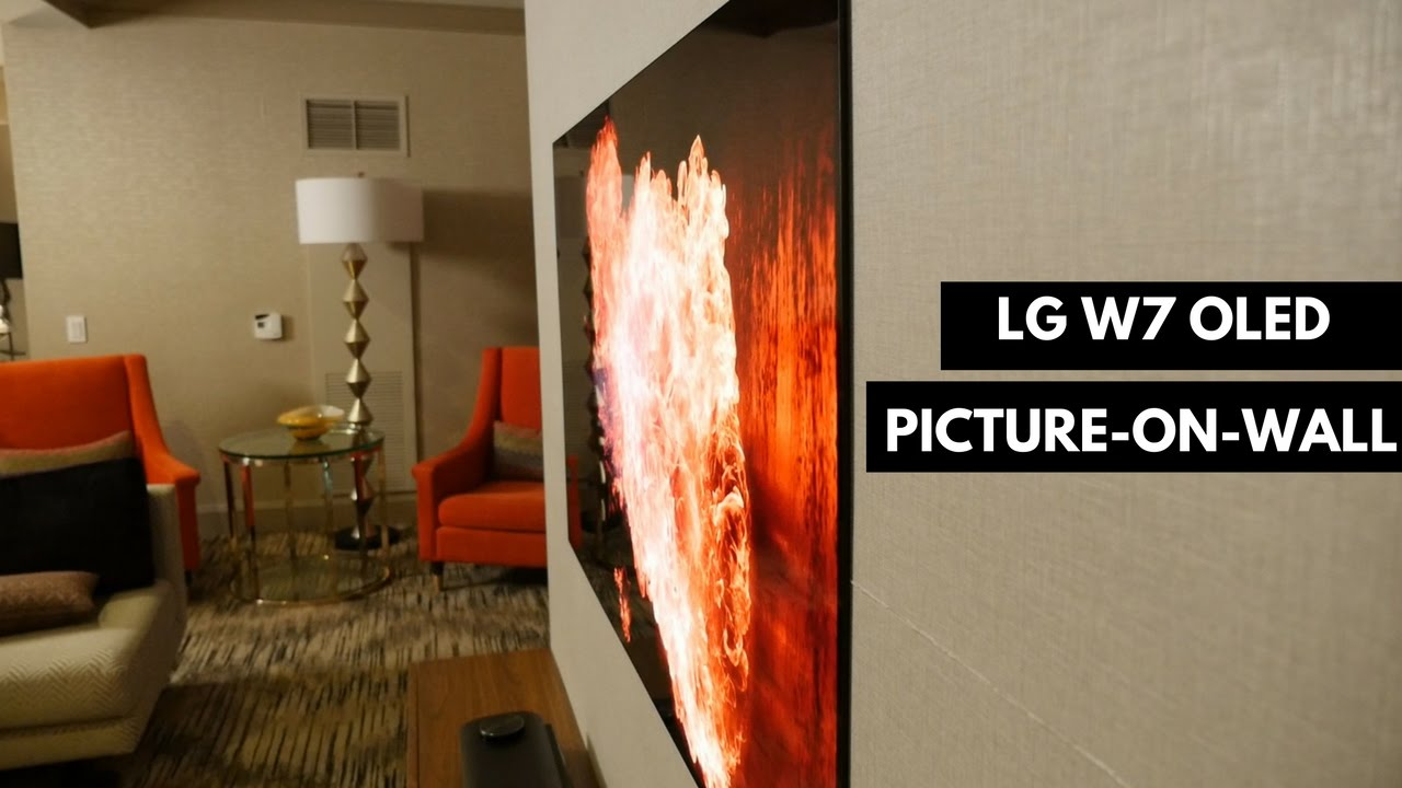 LG W7 OLED Picture-on-wall