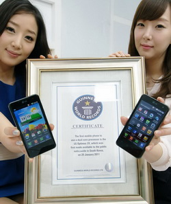 LG Optimus 2X ลง Guinness World Records