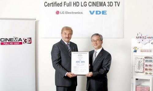 PR: LG CINEMA 3D TV ผ่านการรับรองการแสดงภาพ 3 มิติแบบ Full HD