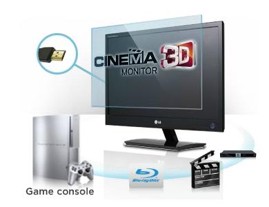 สัมผัสถึงความแตกต่างLG CINEMA 3D Monitor  vs. 3D Monitor แบบทั่วไป