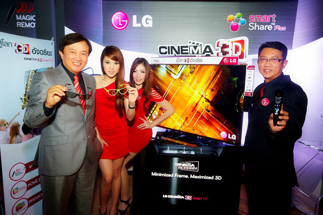 แอลจีย้ำความเป็นผู้นำเทคโนโลยีทีวีสามมิติและสมาร์ททีวี  เผยโฉม LG CINEMA 3D Smart TV รุ่นใหม่