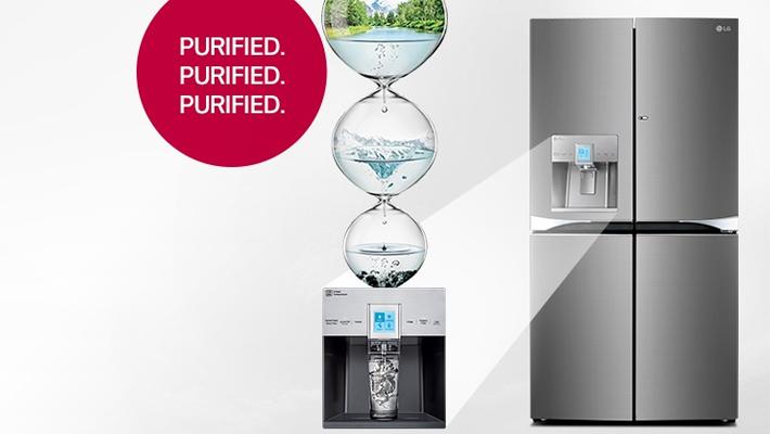 เมื่อตู้เย็น+เครื่องกรองน้ำ นวัตกรรมใหม่จากแอลจี