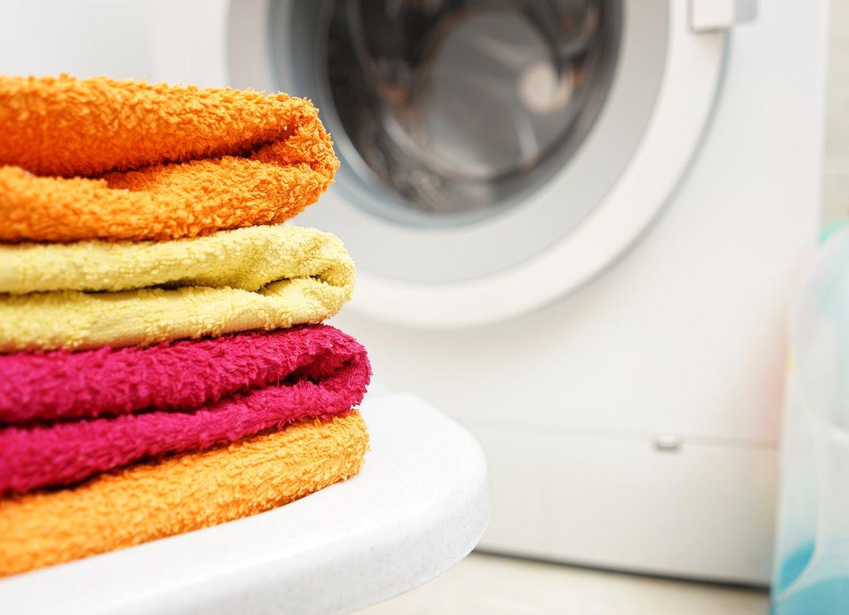 ใช้น้ำยาปรับผ้านุ่มบนผ้าเช็ดตัว
