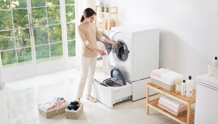 เครื่องซักผ้า 2 ถัง หมดปัญหาในการแยกผ้าขาว ผ้าสี