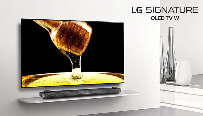OLED77W8PTA วอลเปเปอร์ทีวีไร้ขอบสุดบางเฉียบ สีสันชัดสมจริง
