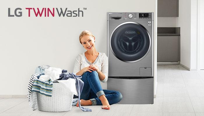 เครื่องซักผ้า twin wash