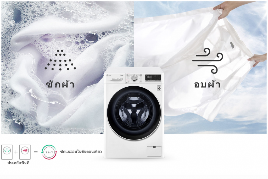 Ai ในเครื่องซักผ้าอบแห้ง