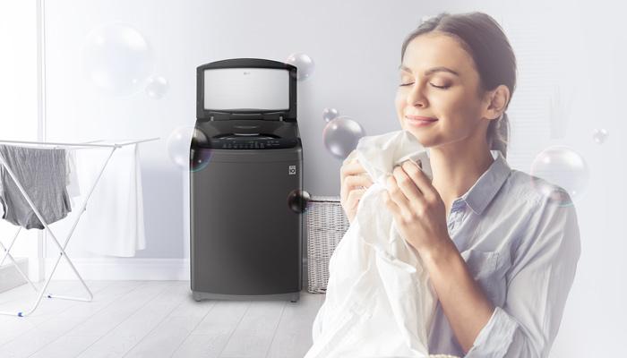 ปัญหาภูมิแพ้จากไรฝุ่นในเสื้อผ้าจะหมดไป! ด้วยฟังก์ชัน Steam ในเครื่องซักผ้า LG  ที่ซักผ้าด้วยน้ำร้อนความร้อนสูงช่วยลดฝุ่นในเสื้อผ้าได้อย่างมีประสิทธิภาพ