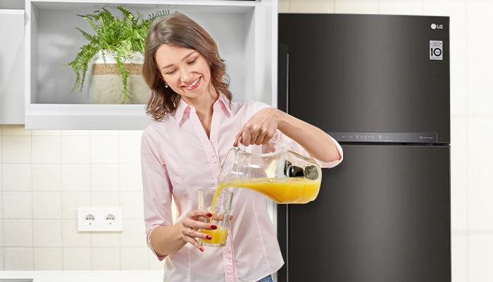 รักษาอาหารของคุณให้สดใหม่ยาวนานด้วยตู้เย็น LG Inverter Linear Compressor